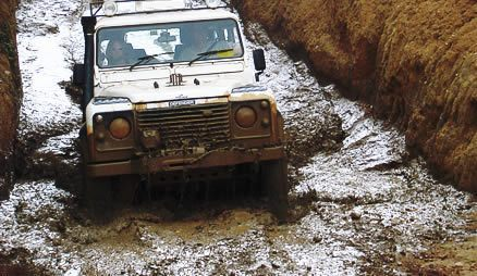 4x4 training - sudan pothole