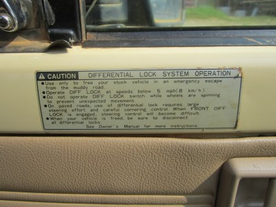 4wd Switch - Diff Lock - Sticker