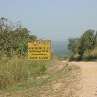 murchison falls road sign