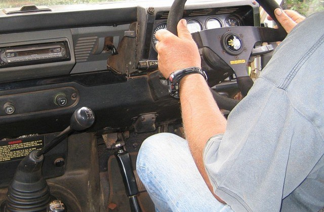 landrover transmission handbrake