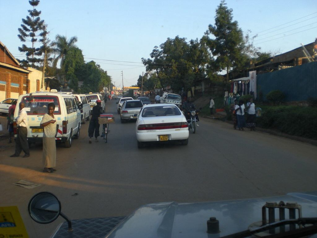 driving in uganda - traffic scene