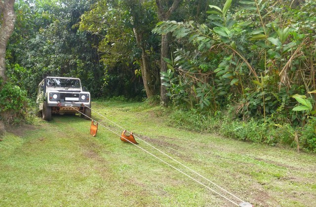 winching using a ground anchor